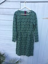 BODEN Ladies Green Blue Shift Dress (UK Size 14L, Tall) VGC GORGEOUS Christmas