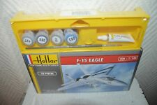 MAQUETTE AVION F-15 EAGLE  HELLER  1/144 MODEL KIT + PEINTURE  NEUF PLANE/PLANO
