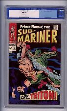 CGC (MARVEL) SUB-MARINER # 2 NM 9.4 WHITE PAGES OLD LABLE, 1968 TRITON