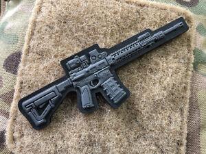 AR-15 Patch, dark-grey, 3d Rubber Patch