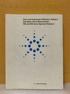 Agilent E4401-90449 PSA/ESA Spectrum Analyzers Measurements + Program Reference