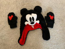 Mickey Mouse Hat And Mitten Set, Baby Gap XS, Age 1-2