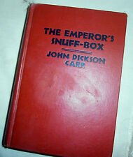 "Rare John Dickson Carr 1st US HB edition ""Emperor's Snuff-Box"" True First 1942"