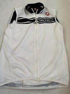 CASTELLI Men's White Cycling Vest, Size Medium