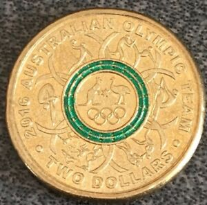 ⭐️Special $2 Dollar 2016 Green Coloured Coin Australian Rare Low Mintage ☄️ AUS