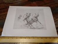 """Vintage """"Polo Players"""" by Baroness Dombrowski Lithograph Schwartz Galleries"""