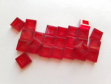 Lego Trans Red Tile 1x1, Part 3070b 30039, Element 3003941, Qty:25 - New