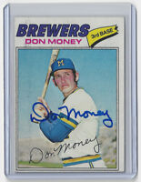 1977 BREWERS Don Money signed card Topps #79 AUTO Autographed Milwaukee