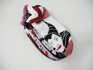 Disney Womens Girls Teen Villains No Show Socks 6 Pack Asst Sz 9-11 - NWT