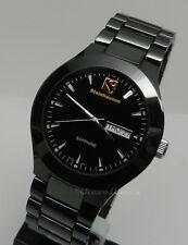 Mens black high tech ceramic Steinhausen Swiss movement Sapphire Crystal watch