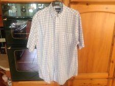 Daniel  CRIMIEUX  Luxury French Cotton Check Short Sleeve Mens Shirt Size L Vgc