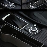 2pcs Car Seat Gap Slit Filler Pocket Catch Catcher Box Coin Storage Cup Holder