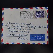 MOYEN CONGO LETTRE COVER CAD BRAZAVILLE 1957 -> CHEF DE REGION DE LAMBARENE