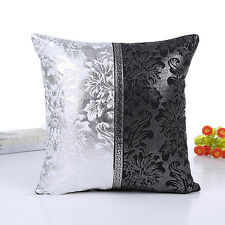 "18"" European Style Thick Black&White Throw Pillow Case Cushion Cover Sofa Decor"