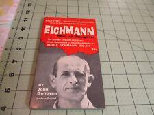 EICHMANN MAN OF SLAUGHTER BY JOHN DONOVAN  (1960) AVON WW2 HOLOCAUST
