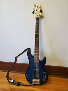 Excellent Condition G&L Tribute Series L-2500 5-String Bass in Blueburst