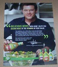 2010 print ad -chef TYLER FLORENCE Wish Bone salad dressing Unilever Advertising