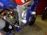 R&G White Classic Style Crash Protectors for Yamaha YZF-R6 2001