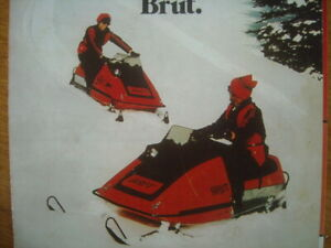 1973 Vintage BRUTANZA Snowmobile Boat Brochure