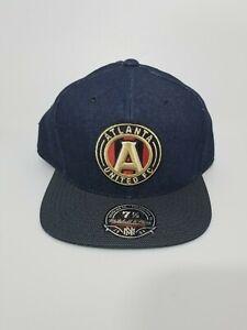Men's Atlanta United FC Mitchell & Ness Denim Raw Denim Fitted Hat