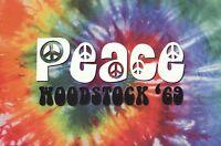WOODSTOCK POSTER ~ 69 PEACE 24x36 Concert Music Tie Dye Art Fair New York 36602