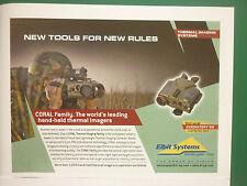 6/2008 PUB ELBIT SYSTEMS CORAL THERMAL IMAGING CAMERA TSAHAL ORIGINAL ADVERT