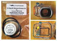 Spare O-ring & Silicone Grease Kit for Canon WP-DC6 Camera Underwater Housing