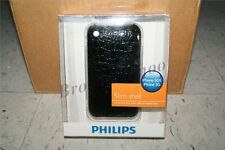 Philips Slim Shell Leatherette Hard Case iPhone 3Gs 3G NEW