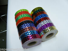 10 rolls of Prism Tape, 1/2 Inch x 25 ft, Your color choices, Holographic Mosaic