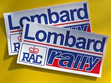 Adesivi Lombard RAC Rally 1 Paio 380x190mm Stile Vintage Anni '70/'80