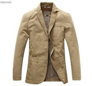 Men's Cotton Suit Jacket Tops Blazers suits coat outwear fashion casual Jackets