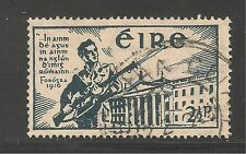 IRELAND #120 (A15 )VF USED - 1941 2 1/2p - Soldier and Dublin Post Office