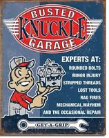 Busted Knuckle Garage Expert Mechanics Retro Vintage Tin Sign 13 x 16in