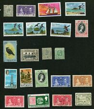 STAMP LOT OF ST CHRISTOPHER AND ST LUCIA, MNH, MH AND USED