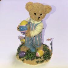 2002 Home Interior Kuddles Korner Easter Bear Figurine - Homco