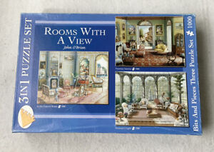 Bits And Pieces 3 In 1 Puzzle Set Rooms With A View By John O' Brien SEE DESCRIP