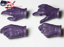 1/6 Batman Joker Men Gloved Hand For Hot Toys ZC Body For DX11 DX01  USA