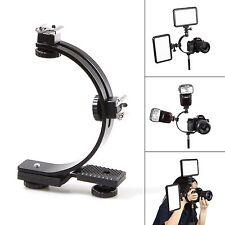 C-Shape Hot Shoe Bracket for Video Light Flash LED DSLR Camera DV Camcorder