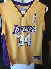 Los Angeles Lakers REEBOK NBA Jersey O'NEAL #34 SIZE Youth MEDIUM