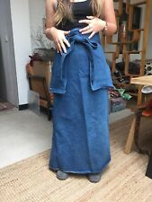 Vintage Denim Work Apron Gardening Studio Art Crafts One Size - Large & Long