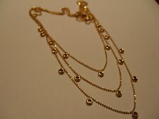 COLLIER CHAINE DRAPERIE 3 RANGS EN OR MASSIF 18 K 18 carats 750