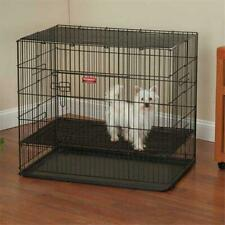 Proselect ZW064 30 17 Puppy Playpen with Plastic Pan Med Black S