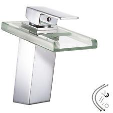 Rubinetto da lavabo a cascata LED monocomando lavello bagno cromo cucina nuovo