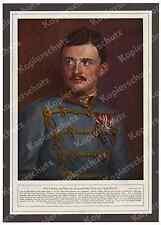 Farbfoto-Druck d´Ora Kaiser Karl I. Uniform Orden Habsburg Wien Adel Wappen 1916