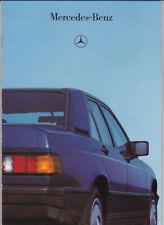 1986 MERCEDES BENZ 190 DIESEL German 28p Brochure in English & Australian Specs