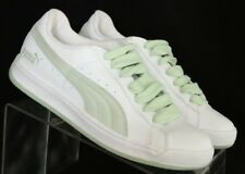 Puma 342667 05 NEW White Green Athletic Fashion Sneakers Women's US 7.5