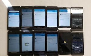 AS IS LOT OF 12 BLACKBERRY ID LOCKED BlackBerry Z10 16GB BLACK WHITE VERIZON 102