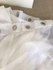 2 x John Lewis Ladderstitch Sheer Panel Eyelet Heading Curtains 100% Linen New.