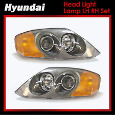 New Genuine OEM Head Light Lamp LH RH Set  for Hyundai Tiburon Coupe 2003-2004