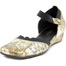 Zapatos planos de mujer de color principal plata de piel